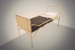 Vintage hospital bed Stock Photo