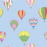 Vintage Hot Air Balloon. Pattern Royalty Free Stock Photography
