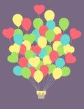 Vintage hot air balloon.Celebration festive background Stock Photo