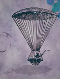 Vintage hot air balloon paper Stock Photography