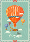 Vintage hot air balloon in the sky vector Royalty Free Stock Photography