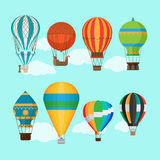 Vintage hot air balloons Royalty Free Stock Photography