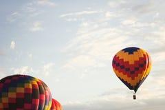 Vintage Hot Air Balloons in flight Royalty Free Stock Photos