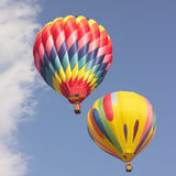 Vintage Hot Air Balloons in flight Stock Images