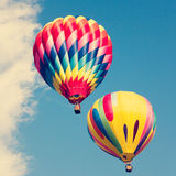 Vintage Hot Air Balloons in flight Stock Photography