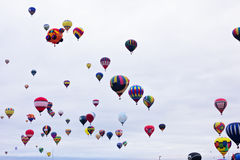 Vintage Hot Air Balloons in flight Royalty Free Stock Image