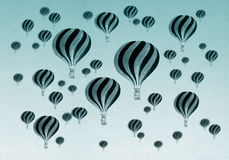 Vintage Hot air balloons Royalty Free Stock Photos