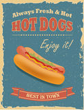 Vintage Hot Dogs poster Royalty Free Stock Photo