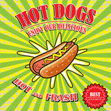 Vintage Hot Dogs, retro pop art stile Royalty Free Stock Photography