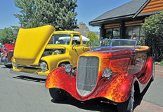 Vintage Hot Rod Convertible Stock Images