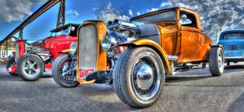 Vintage hot rods Royalty Free Stock Photos