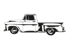 Vintage Hot Rod pickup Truck Silhouette vector Stock Photo