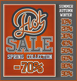 Hot Sale collection. Vintage Hot Sale collection with handwritten header Royalty Free Stock Image