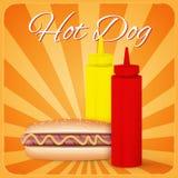 Vintage hotdog poster design Stock Image