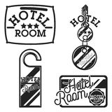 Vintage hotel emblems Royalty Free Stock Photo