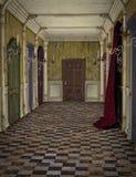 Vintage hotel hallway stock photography