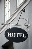 Vintage hotel sign Stock Images