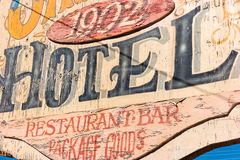 Vintage hotel sign Royalty Free Stock Image