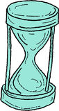 Vintage Hour Glass Drawing Stock Photos