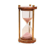 Vintage hourglass isolated over white Stock Photography