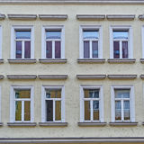 Vintage house facade windows pattern Royalty Free Stock Photo