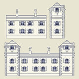 Vintage house or factory set Royalty Free Stock Images