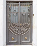 Vintage house forged door detail Royalty Free Stock Images