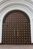 Vintage house forged door detail. Athens Greece Stock Images