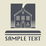Vintage house icon or sign. Vector illustration Stock Photo