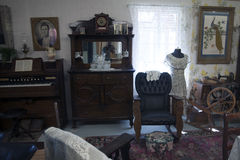 Vintage House Interior. In Northern California museum with artifacts from 1800s royalty free stock photography
