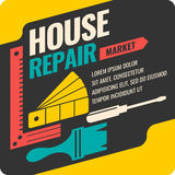 Vintage House repair poster. Stock Image