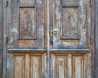 Vintage house solid wood door Royalty Free Stock Images