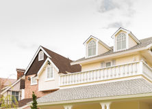 Vintage house with tile roof Stock Image
