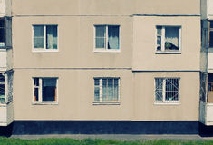 Vintage house with windows Royalty Free Stock Photos