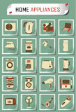 Vintage household appliances. Set of household appliances. This is file of EPS10 format Royalty Free Stock Images