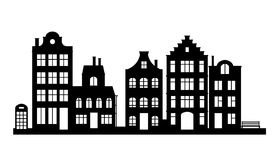 Vintage houses, cityscape Stock Images