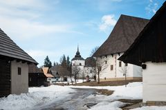 Open-air museum of Liptov Village in Pribylina, Slovakia royalty free stock image
