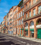 Vintage Houses from Red Bricks, Toulouse Royalty Free Stock Photos
