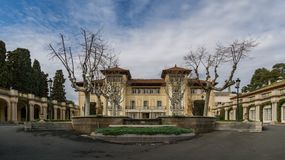 Magnificent mansion on the countryside royalty free stock image