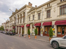Vintage houses on the street of Bucharest Royalty Free Stock Photography