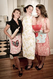 Vintage Housewives at the Ready Stock Photo