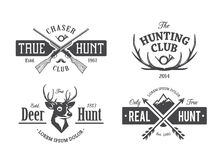 Vintage Hunting Emblems vector illustration