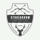 Vintage hunting label, logo, badge and design elements. royalty free illustration