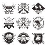 Vintage hunting labels set Royalty Free Stock Photo