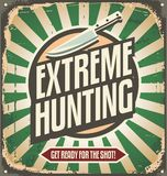 Vintage hunting sign Royalty Free Stock Photography