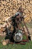 Vintage hydraulic woodchopper Stock Image