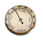 Vintage hygrometer. Isolated on white Stock Photo