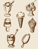 Vintage ice cream stock photography