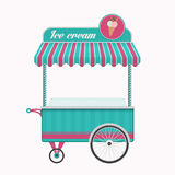 Vintage ice cream cart bus vector illustration. Stock Photos