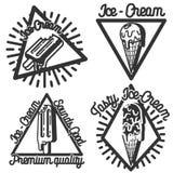 Vintage Ice Cream emblems Royalty Free Stock Image